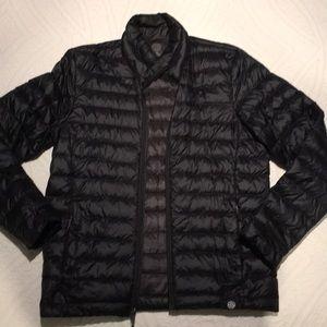 REI men's down jacket medium in black